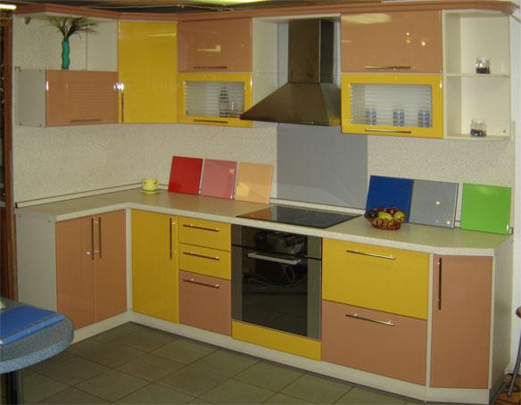Кухни желтые оранжевые фото