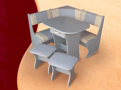 Кухонный уголок Тип-2 мини (угловая скамья, стол, 2 табурета). Кухонные уголки
