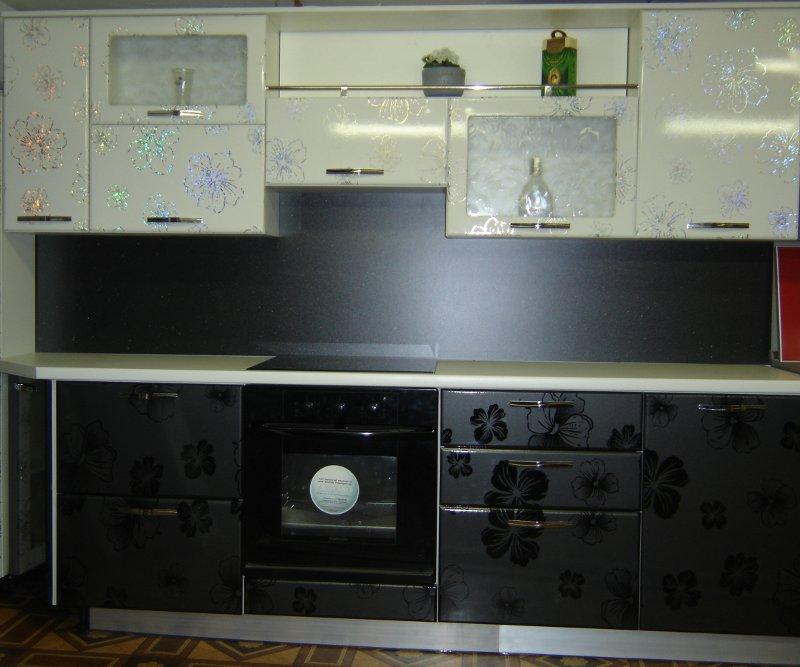 Кухни черно белые модерн